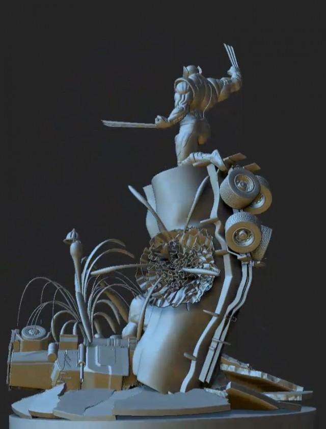3D character model Zbrush