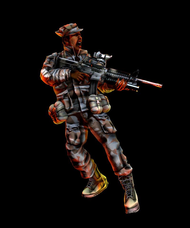 3D CGI Soldier Ilustration