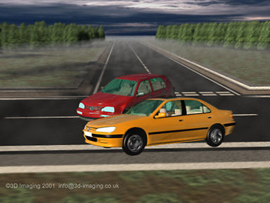 In conclusion an image take from accident video probably demonstrating the result of lack of attention of the drivers.