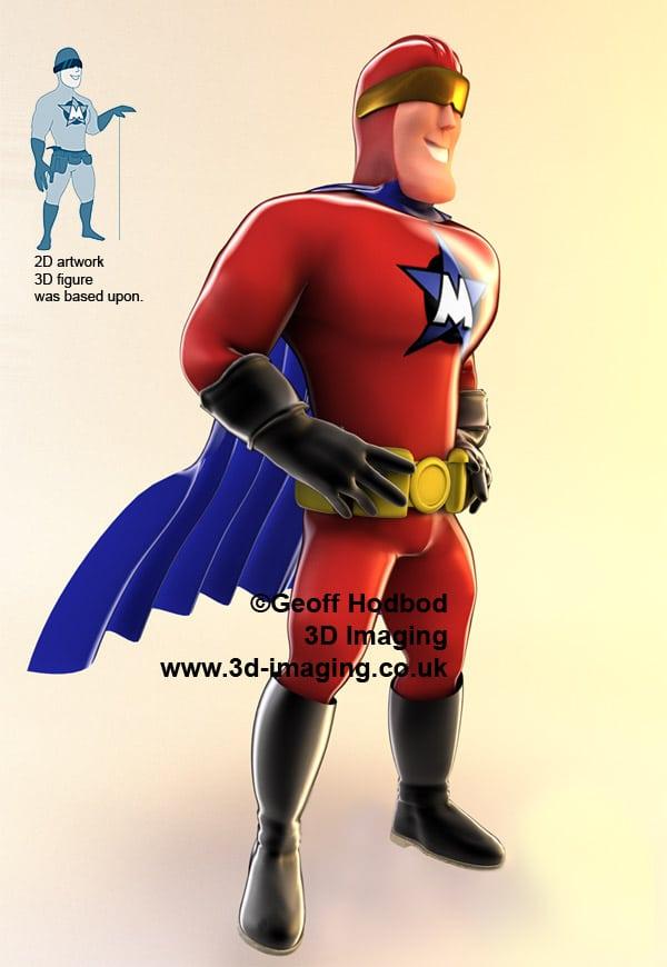 3D Superheroes CGI